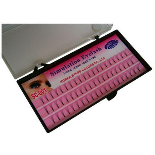 Kępki rzęs jedwabne 8mm SC-001 - produkt z kategorii- Sztuczne rzęsy