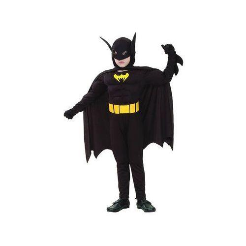 Kostium batman z mięśniami - s - 110/120 cm marki Go