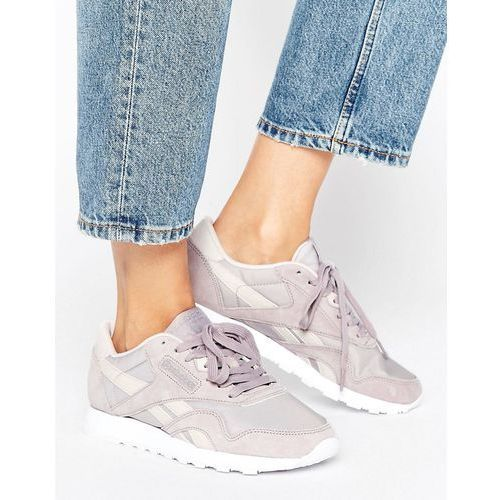 ed461bda ... Reebok Classic Nylon X Face Trainers In Lilac Grey - Purple .