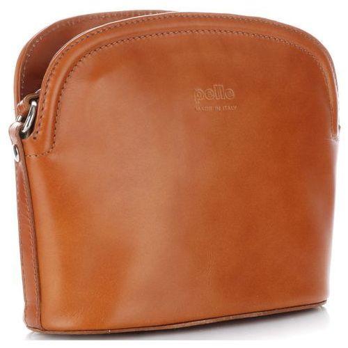 Genuine leather Klasyczne torebki listonoszki skórzane wykonane z solidnej skóry licowej ruda (kolory)