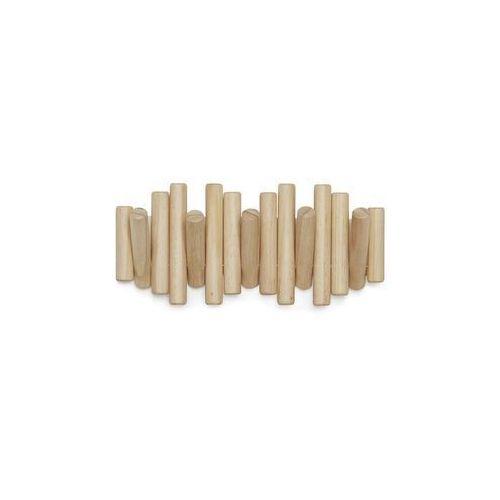 Umbra - Wieszak ścienny - Sticks White - jasne drewno