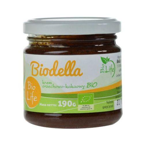 190g biodella krem kakaowo-orzechowy bio marki Biolife