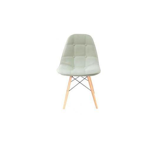 """Krzesło """"bari""""- białe z bukowymi nogami marki Pozostali"""