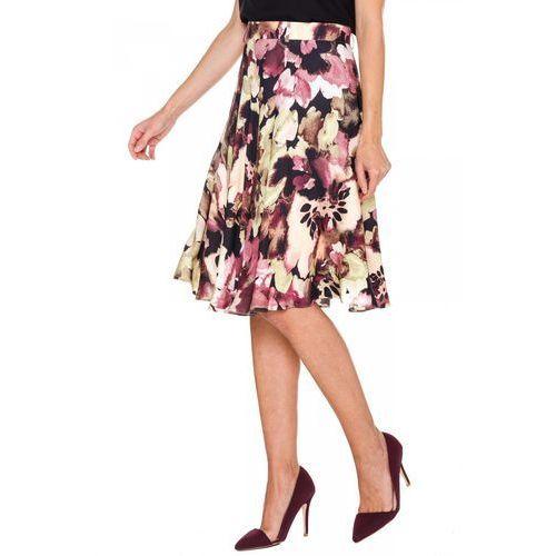 Spódnica w fioletowe kwiaty - , spódnica, spódniczka Bialcon
