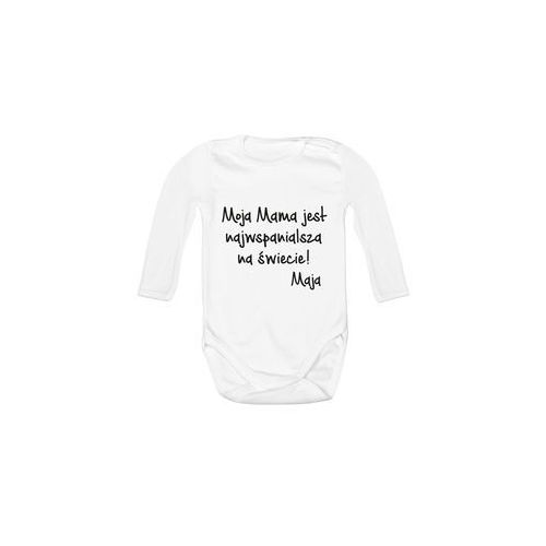 Body dziecięce Moja Mama jest najwspanialsza + imię dziecka