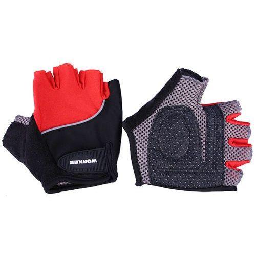 Rękawice rowerowe s900, czerwony, xl marki Worker