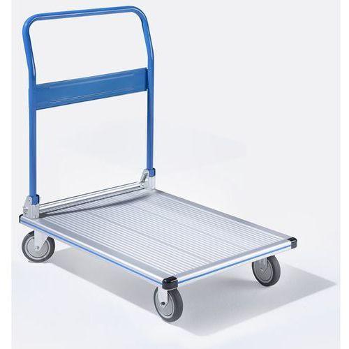 Unbekannt Aluminiowy wózek platformowy komfort, nośność 150 kg, pow. ładunkowa 740x480 mm.