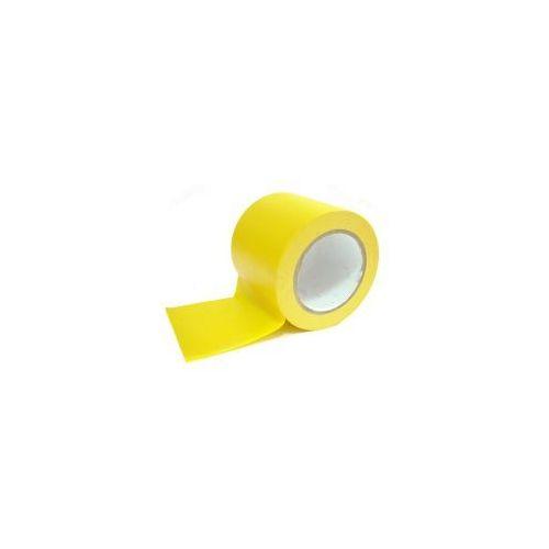 Taśma ostrzegawcza samoprzylepna - do wyznaczania ciągów komunikacyjnych | szerokość 100 mm - rożne kolory marki Grupa morado