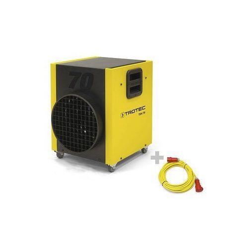 Nagrzewnica elektryczna TEH 70 + Przedłużacz Profi 20 m / 400 V / 6 mm²