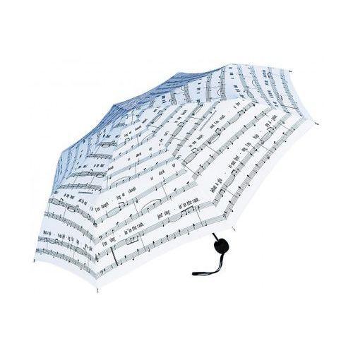 Zebra Music Parasol składany ″Singing in the rain″, biały