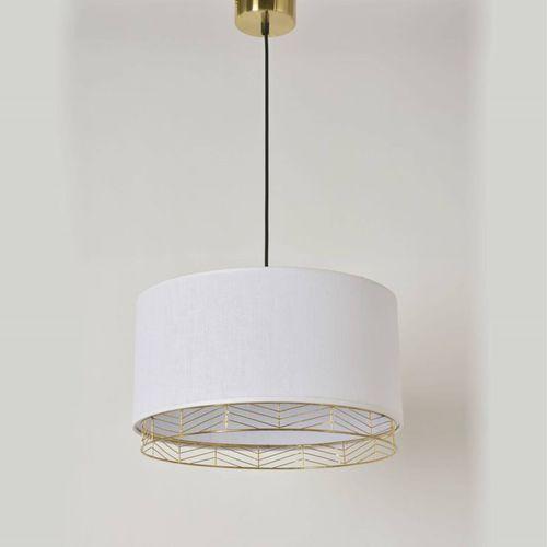 Corep Frise-lampa wisząca mosiądz & sprany len Ø40cm (3188000744074)