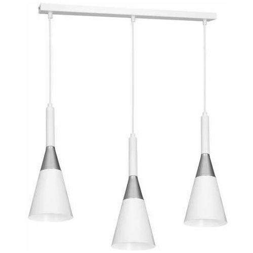Luminex Benito 1975 lampa wisząca zwis 3x60W E27 biała/chrom (5907565919752)