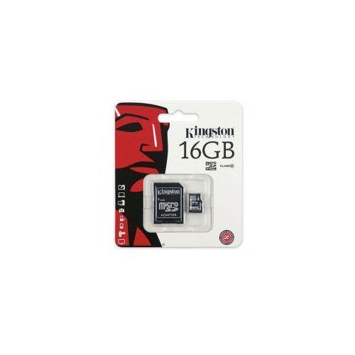KARTA PAMIĘCI KINGSTON MICRO SDHC 16GB CLASS 10 ADAPTER (1)