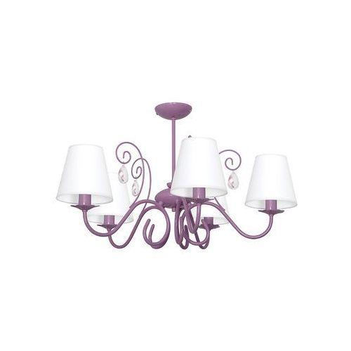 Decoland Dziecięca lampa wisząca laura 5xe14/60w/230v fioletowa (5907565979527)