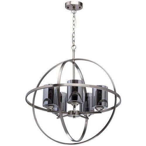 Mw-light Duża lampa wisząca loft niklowana kula na 5 żarówek (285010605)