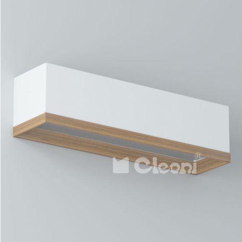 Cleoni Kinkiet bops 40 1xe27 biały mat żarówka led gratis!, 1305k41e117+