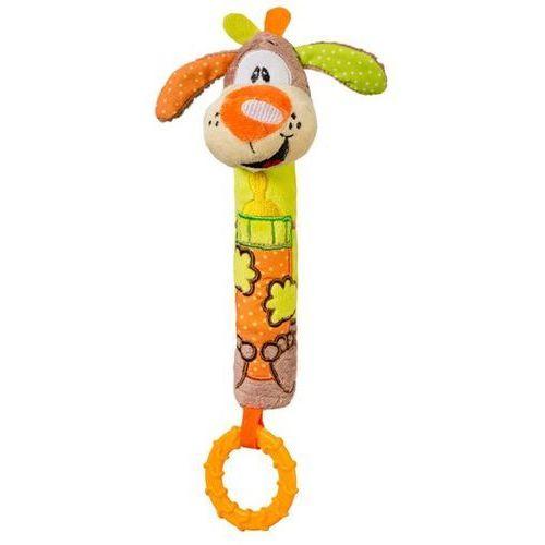 zabawka piszcząca z gryzakiem piesek 6m+ marki Babyono