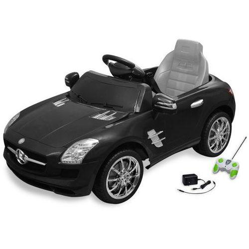 Vidaxl samochód elektryczny dla dzieci czarny mercedes benz sls 6 v z pilotem