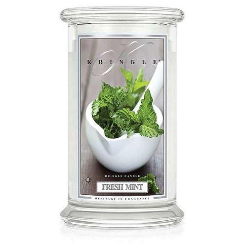 Kringle candle Fresh mint świeca zapachowa duży słoik 22oz, 623g, 2 knoty
