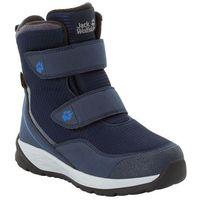 Jack wolfskin Buty zimowe dla dzieci polar bear texapore high vc k dark blue / light grey - 27