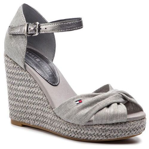 6f2dab8dd7efd Espadryle TOMMY HILFIGER - Iconic Elena Metallic Canvas FW0FW04080 Light  Grey 018