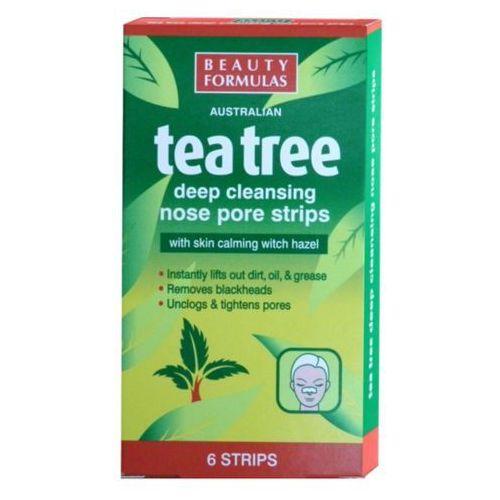 Beauty Formulas Tea Tree Głęboko oczyszczające paski na nos 1op-6szt (5012251011327)