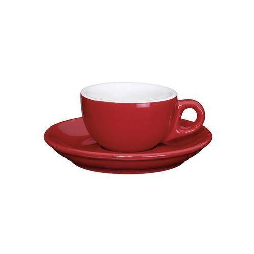 porcelanowa filiżanka do espresso ze spodkiem, 50 ml, czerwona (4017166215120)