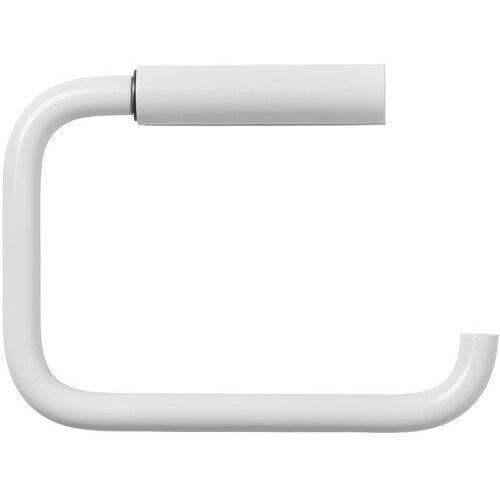 Blomus Biały uchwyt na rolkę papieru toaletowego modo stal pokryta tytanem (b66267)