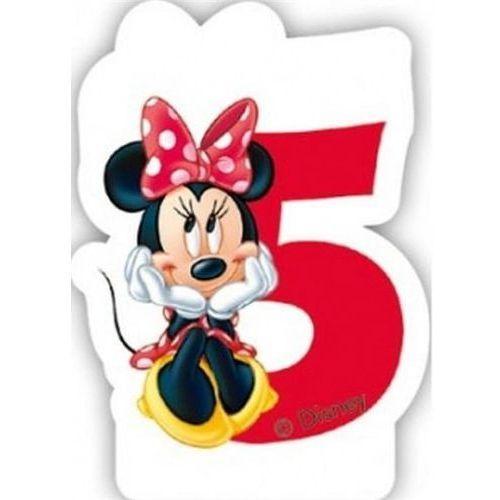 Świeczka cyferka Myszka Minnie Mouse - 5, SCMM/9240-5