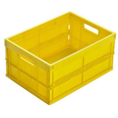 Pojemnik składany z polipropylenu, poj. 32 l, żółty. z polipropylenu o wysokiej marki Walther faltsysteme