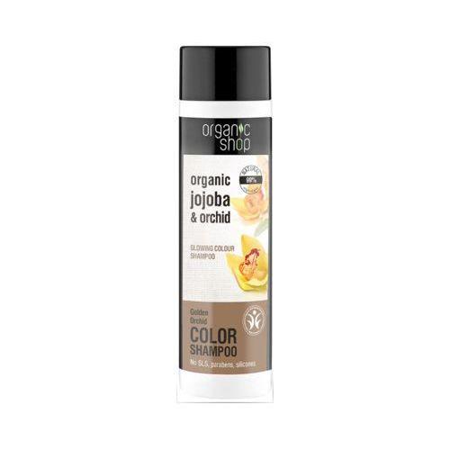 Eurobio lab Organic shop 280ml złota orchidea szampon do włosów farbowanych przywracający blask
