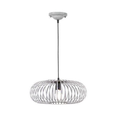 Druciana lampa wisząca johann 306900161 metalowa oprawa industrialny zwis szary marki Trio