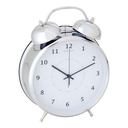 Budzik Nextime Wake Up 20 cm silver