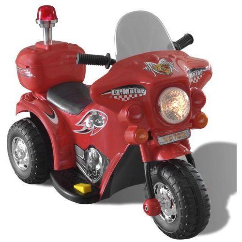 Vidaxl  motocykl zasilany na baterię (czerwony) (8718475886709)