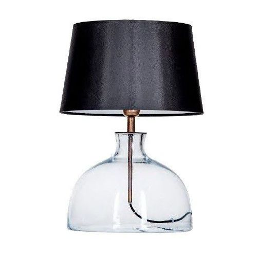 Lampa lampka oprawa stołowa haga 1x60w e27 czarny/biały l212180249 marki 4concepts