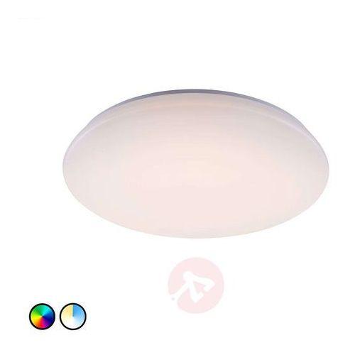 Lampa Sufitowa Trio Leuchten WiZ CHARLY LED Biały, 1-punktowy, Zdalne sterowanie, Zmieniacz kolorów - Nowoczesny - Obszar wewnętrzny - CHARLY - Czas dostawy: od 3-6 dni roboczych, kolor Biały