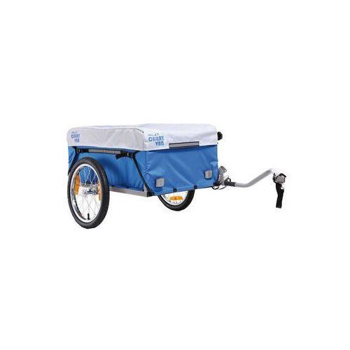 carry van przyczepka rowerowa niebieski/biały 2018 przyczepki transportowe marki Xlc