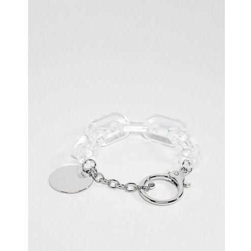 ASOS DESIGN bracelet with resin links in silver - Gold