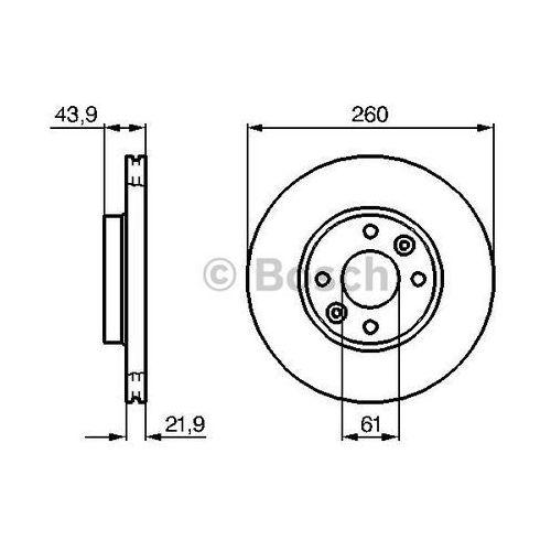 tarcza hamulcowa; przednia, 0 986 479 b73 marki Bosch