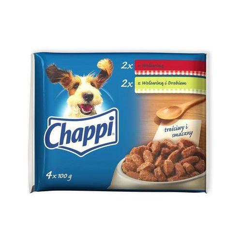 z wołowiną/ z wołowiną i drobiem 4x100g marki Chappi