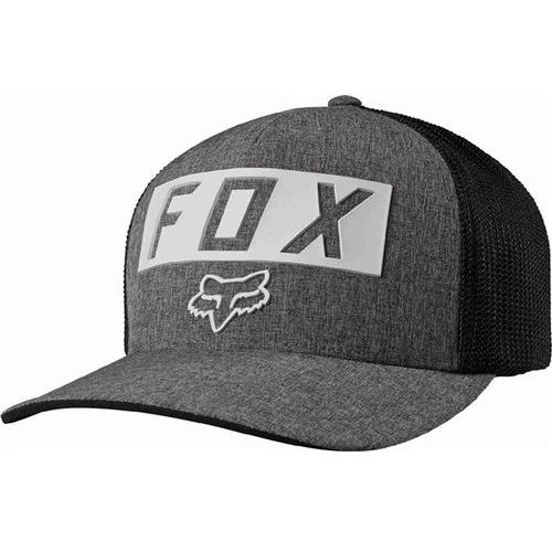 czapka z daszkiem FOX - Moth Stacked Flexfit Heather Graphite (185)