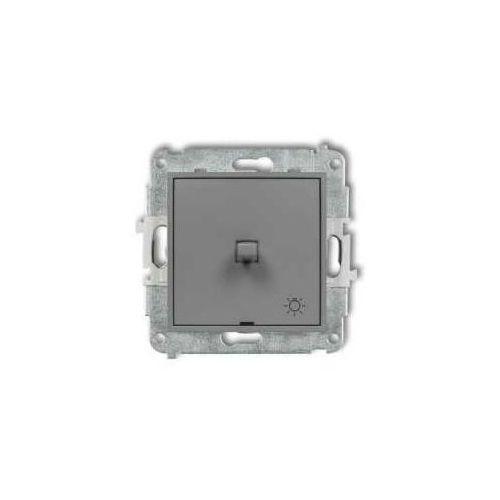 Przycisk światło Karlik Mini 27MWPUS-5 w stylu amerykańskim szary mat, 27MWPUS-5