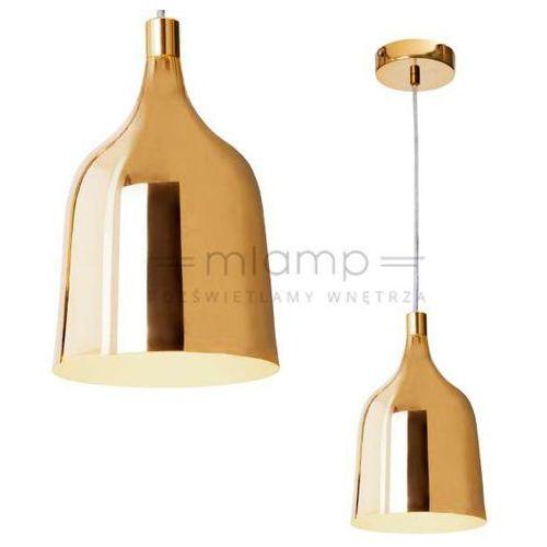 LAMPA wisząca LAZARRO LP-1120/1P GOLD Light Prestige metalowa OPRAWA zwis dzwon bell złoty, LP-1120/1P GOLD
