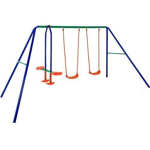 Wideshop Huśtawka ogrodowa dla dzieci plac zabaw 3 huśtawki