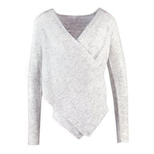 vicant wrap sweter light grey melange marki Vila