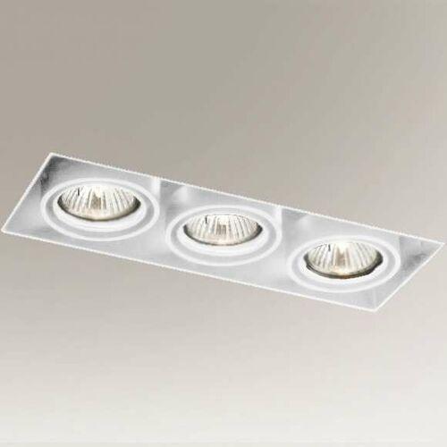 Podtynkowa LAMPA sufitowa OMURA 7310 Shilo prostokątna OPRAWA wpuszczana regulowana metalowy wpust biały, 7310