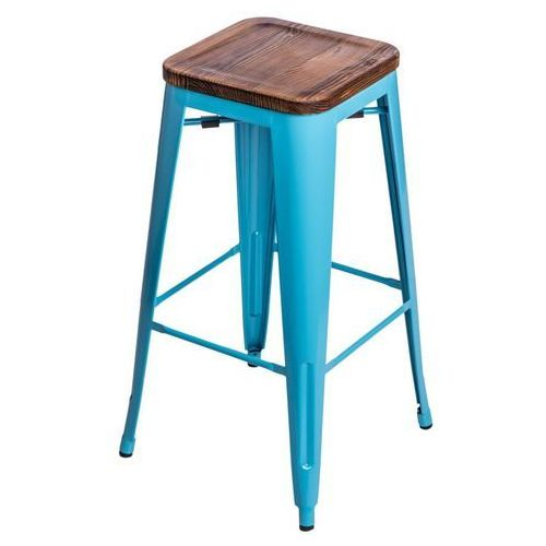 D2.design Hoker paris wood 75cm sosna - niebieski