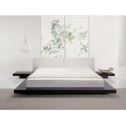 Beliani Łóżko ciemnobrązowe - 180x200 cm - łóżko drewniane - styl japoński - zen (7081452908314)