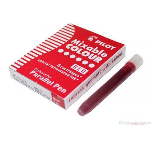 6 nabojów do pióra Parallel Pen Czerwony