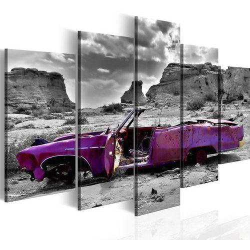 Artgeist Obraz - samochód w stylu retro na pustyni kolorado - 5 części